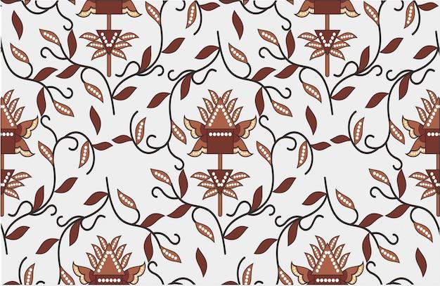 Motivo batik indonesiano, disegni speciali che sono modellati