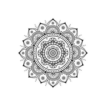 Motivo circolare a forma di mandala per la decorazione del tatuaggio e del hennè