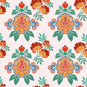 Motivo decorativo di fiori decorativi.