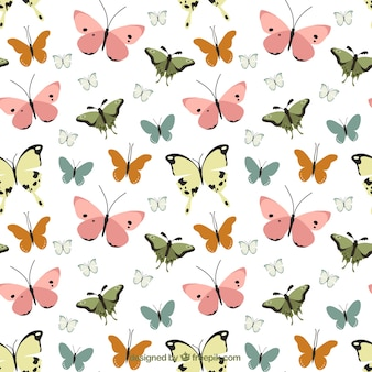 Motivo decorativo vintage di farfalle