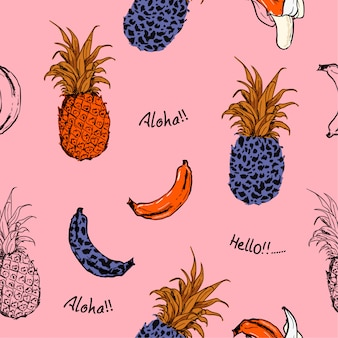 Motivo di frutta estiva