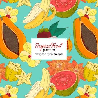 Motivo di frutti tropicali