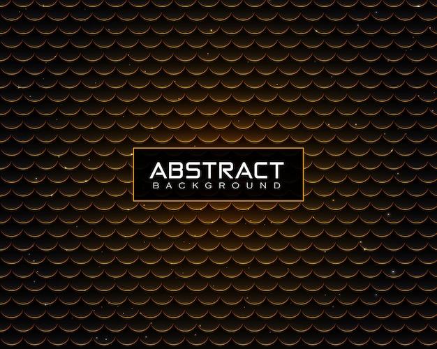 Motivo di sfondo astratto di lusso con puntini dorati lucidi e particelle