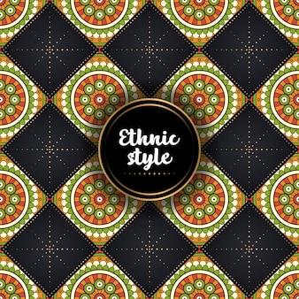 Motivo etnico ornamentale di lusso