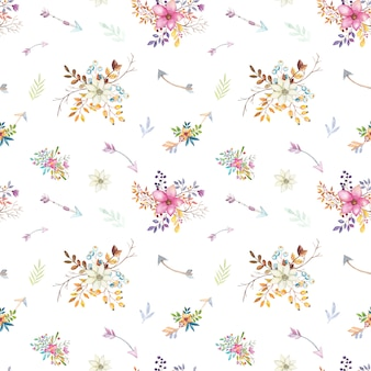 Motivo floreale acquerello teepee.