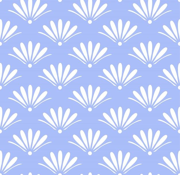 Motivo floreale blu senza soluzione di continuità