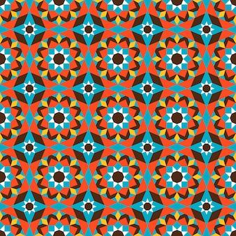 Motivo floreale geometrico in colore arancione