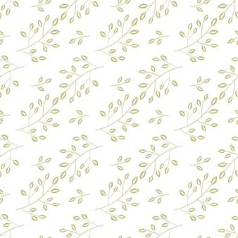 Motivo floreale oro senza soluzione di continuità per lo sfondo e la decorazione