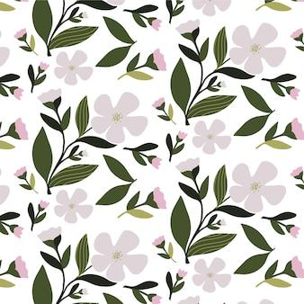 Motivo floreale seamless texture con fiori per stampe di moda o carta da parati. stile disegnato a mano, sfondo chiaro.