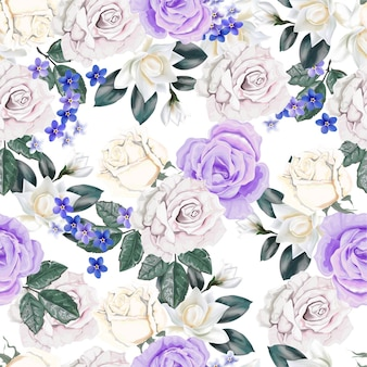 Motivo floreale senza soluzione di continuità con rosa