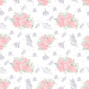Motivo floreale senza soluzione di continuità con splendidi fiori
