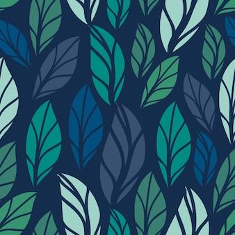 Motivo floreale senza soluzione di continuità. disegno senza cuciture del modello del fogliame con colore pastello. modello di foglie tropicali