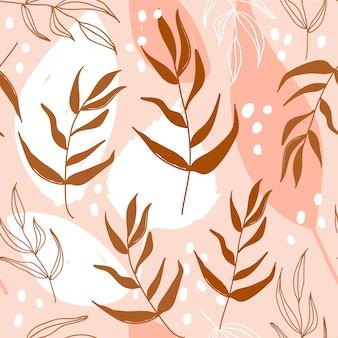 Motivo floreale senza soluzione di continuità moderna con foglie