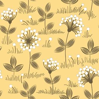 Motivo floreale senza soluzione di continuità. trama di fiori