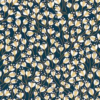 Motivo floreale senza soluzione di continuità trama di fiori.