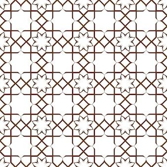 Motivo floreale stilizzato senza soluzione di continuità geometrica in stile orientale