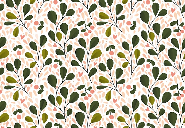 Motivo floreale struttura senza cuciture con i fiori per stampe di moda o carta da parati. foglie verdi. stile disegnato a mano