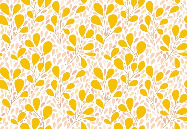 Motivo floreale texture vettoriale senza soluzione di continuità per stampe di moda. stile disegnato a mano