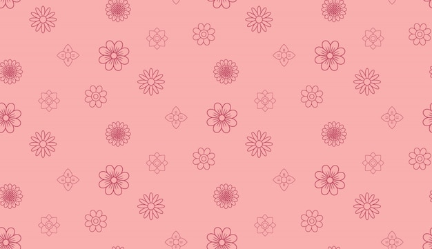 Motivo floreale vintage rosa