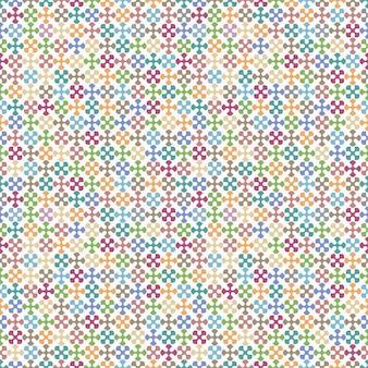 Motivo geometrico colorato senza soluzione di continuità