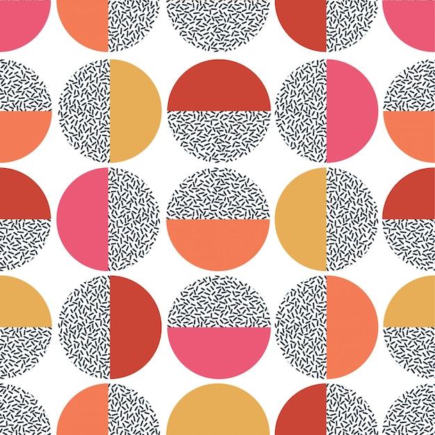 Motivo geometrico colorato. stampa moderna mid century senza soluzione di continuità.