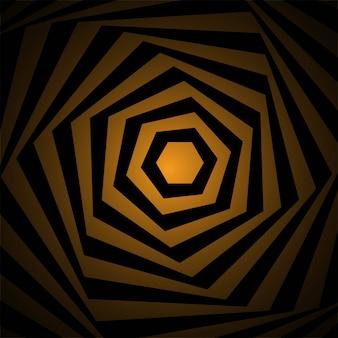 Motivo geometrico creativo con sfondo a zig zag