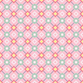 Motivo geometrico decorativo nei colori rosa e grigi, illustrazione vettoriale