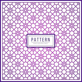 Motivo geometrico islamico. usando il bordo e due colori