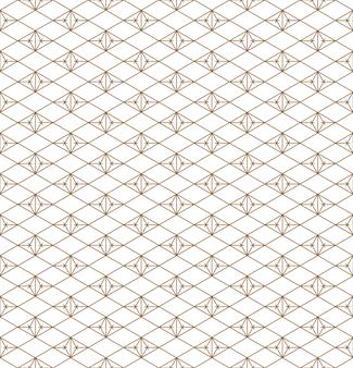 Motivo geometrico senza soluzione di continuità basato su kumiko ornamento giapponese.