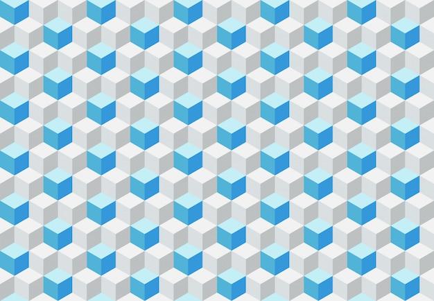 Motivo geometrico senza soluzione di continuità con i cubi