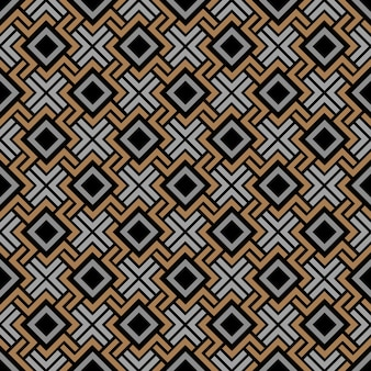 Motivo geometrico senza soluzione di continuità in stile celtico
