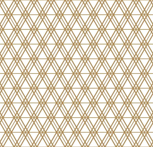 Motivo geometrico senza soluzione di continuità ispirato all'ornamento giapponese kumiko.