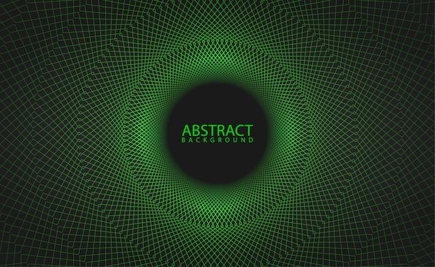 Motivo geometrico verde con effetto incandescente