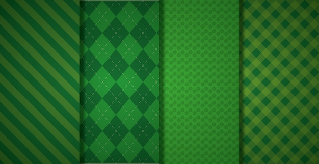 Motivo geometrico verde