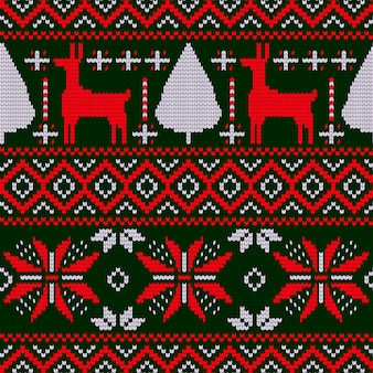 Motivo natalizio con motivo a maglia