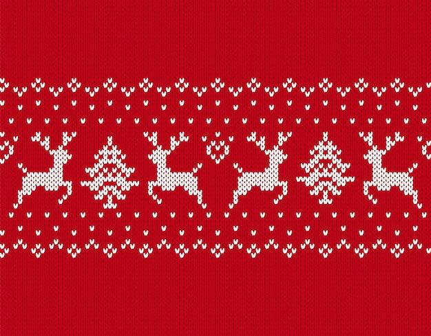 Motivo natalizio lavorato a maglia.