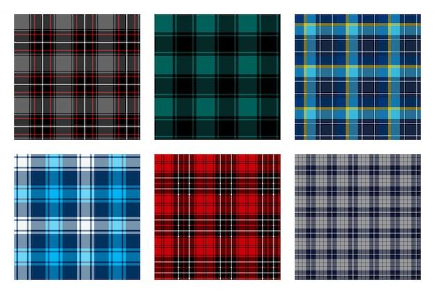 Motivo scozzese a scacchi senza soluzione di continuità