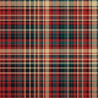 Motivo scozzese scozzese senza cuciture. stampa la trama del tessuto. controlla lo sfondo.