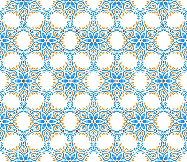 Motivo senza saldatura elementi decorativi vintage sfondo disegnato a mano islam arabo motivi indomani indiani perfetto per la stampa su tessuto o carta