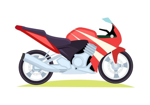 Moto moderna nera e rossa