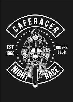 Motociclista caferacer