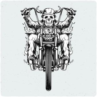 Motociclista in moto