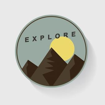 Mountain and moon nature travel esplora