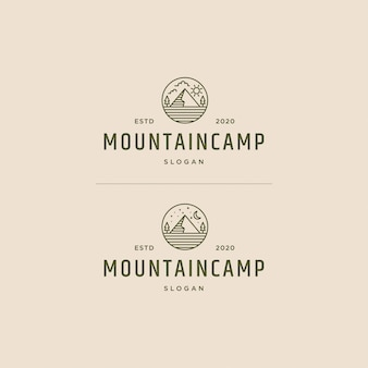 Mountain camp logo vintage retrò