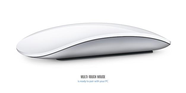 Mouse per computer isolato su sfondo bianco.
