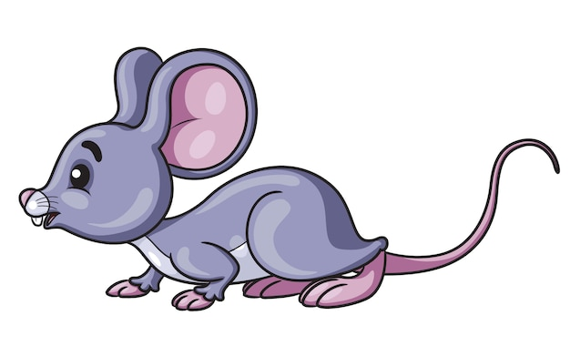 Mouse simpatico cartone animato