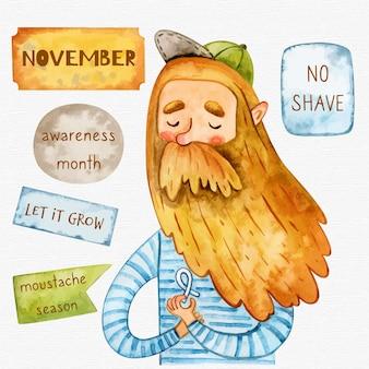 Movember dell'ambiante nessun fondo di rasatura con i pantaloni a vita bassa