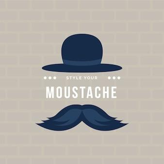 Movember design piatto coltiva la carta da parati