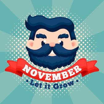 Movember vintage gli ha permesso di crescere sullo sfondo