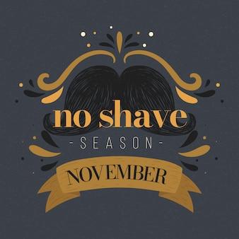 Movember vintage senza sfondo di stagione di rasatura